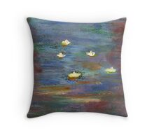 Water lillies Throw Pillow