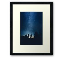 Follow the stars Framed Print