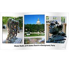 Paris Series 16 Rodin Domes Poster