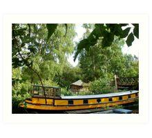 Yellow Barge Art Print
