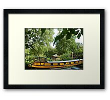 Yellow Barge Framed Print