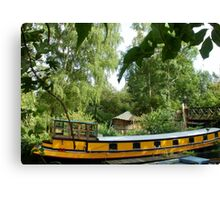 Yellow Barge Canvas Print