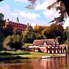 Shrewsbury School and Boat-houses by Peter Sandilands