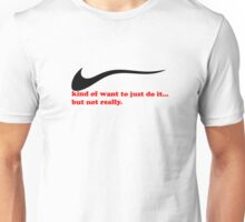 On the fence- Valentine's day Unisex T-Shirt