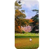Autumnal View of Dumbleton Hall  iPhone Case/Skin