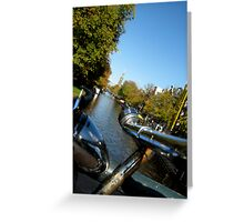 bikes,canals,canals,bikes,... Greeting Card