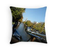 bikes,canals,canals,bikes,... Throw Pillow