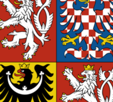 Military of Czech Republic Coat of Arms Sticker
