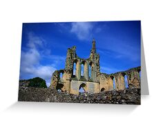 Byland Abbey -2 Greeting Card