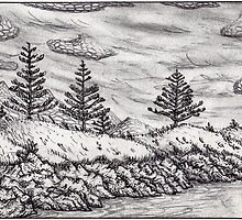 headland sketch - Bermagui, NSW by Simon Weber