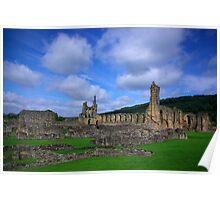 Byland Abbey -3 Poster