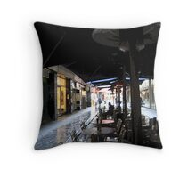 city lanes in the rain Throw Pillow