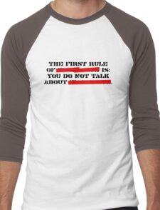 the first rule of fight club Men's Baseball ¾ T-Shirt