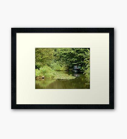 Little Blue Boat Framed Print