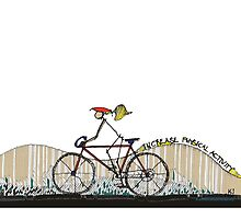 Increase Physical Activity - Biking at the beach by kjadesign