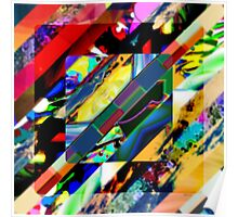 Colorful Collage Cube Poster