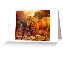 """""""Wild Ponies"""" Greeting Card"""