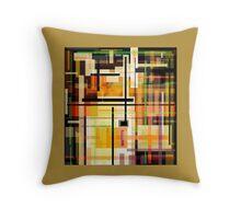 GOLD abstract PLAID art design Throw Pillow