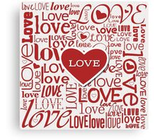 Love Words Typography Design Canvas Print