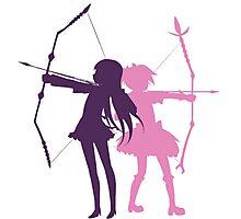 Homura and Madoka-Bow and Arrow Photographic Print