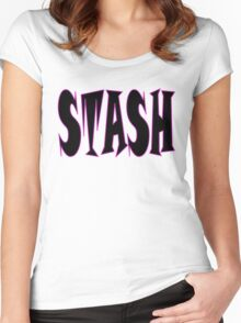 STASH ... White Women's Fitted Scoop T-Shirt