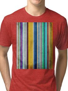 Colorful Stripes With Texture Tri-blend T-Shirt