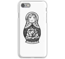Hand Drawn Dot Work Russian Doll  iPhone Case/Skin