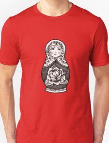 Hand Drawn Dot Work Russian Doll  Unisex T-Shirt