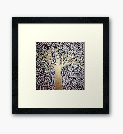 woman-tree Framed Print