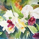 White Orchids by Janis Lee Colon