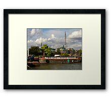 Thames Barge Framed Print
