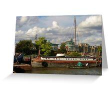 Thames Barge Greeting Card
