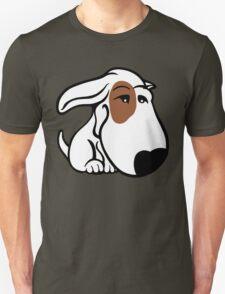 Soppy Bull Terrier White Coat Eye Patch Unisex T-Shirt
