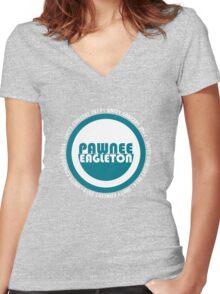 Pawnee-Eagleton unity concert 2014 (2.0) Women's Fitted V-Neck T-Shirt