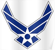Air Force Insignia - Blue Poster