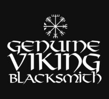 Cool 'Genuine Viking Blacksmith' T-shirts, Hoodies, Accessories and Gifts by Albany Retro