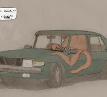 a squid in a Saab by robmillion