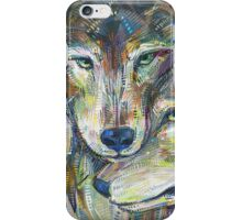 Gray wolves iPhone Case/Skin