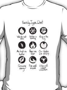 Family Type Chart T-Shirt
