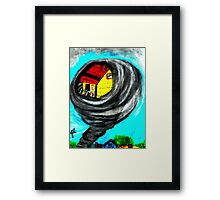 WIZARD OF OZ, TWISTER Framed Print