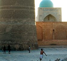 Football in Bukhara by Alastair Humphreys