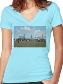 Heavy Metal Alley, Avalon Airshow, Australia 2005 Women's Fitted V-Neck T-Shirt