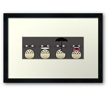 Totoro's Faces Framed Print