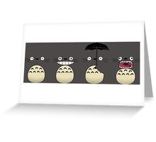 Totoro's Faces Greeting Card