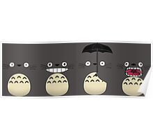 Totoro's Faces Poster