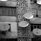 Satellite dishes by Alastair Humphreys