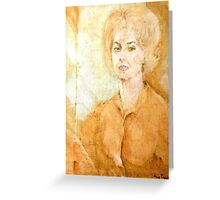 Anne Parker Self Portrait Greeting Card
