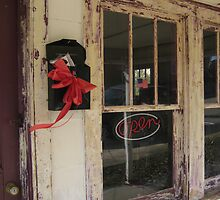 Don's barber shop at Christmastime by Laurkat