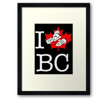 I PNW:GB BC (black) Maple Leaf v2 Framed Print