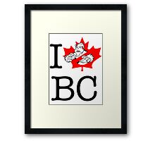 I PNW:GB BC (white) Maple Leaf v2 Framed Print